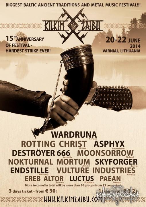 Nokturnal Mortum на Kilkim Zaibu Fest 2014