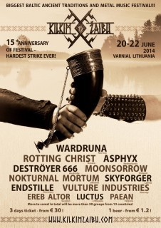 Nokturnal Mortum на Kilkim Zaibu Fest 2014